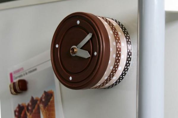Originales relojes de cocina realizados con lata con tapa for Reloj de cocina original