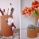 Latas para decorar tu oficina revestidas con corcho