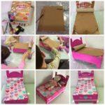 ¿Cómo hacer una cama para muñecas con material reciclado?