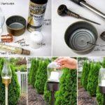 Cómo realizar candelabros para el jardín, el balcón o la terraza realizados con material reciclable