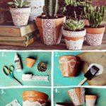 Cómo hacer macetas románticas con puntillas para regalar