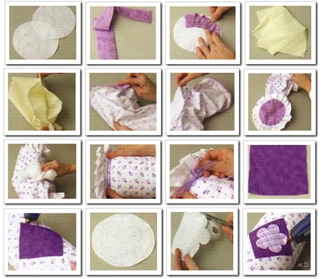 como hacer almohadon mama