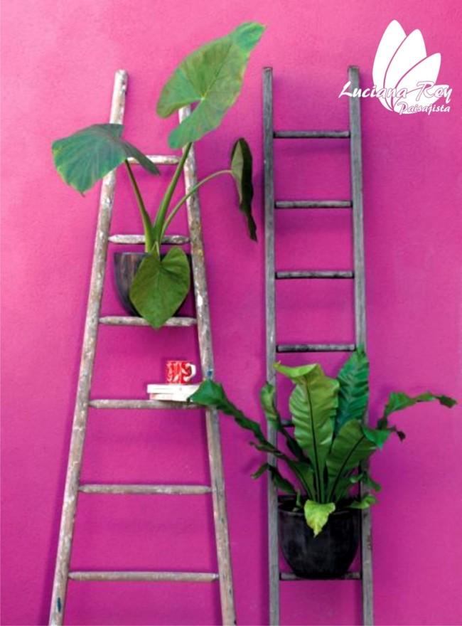 Cómo convertir una vieja escalera en una estantería útil: Imágenes ...