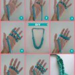 Cómo hacer un collar con trapillo con las manos