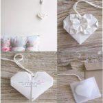 Corazones colgantes con la técnica del origami: Decoración de tu hogar