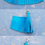 Llaveros de flecos en gamuza para regalar en el Día de la madre: Tutorial