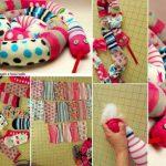 Colorida serpiente con calcetines o telas de algodón flexible