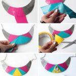 Collar para la temporada de verano reciclado y muy colorido