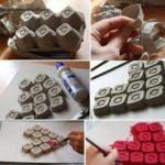 ¡Más amor por favor! Cuadro con corazón realizado con materiales reciclados