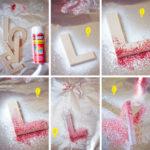 ¡Alegría, Amor y color a tus paredes! Letras de fibrofacil con brillo