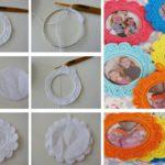 Portaretratos redondos tejidos al crochet: ¡Colores para tus fotos!