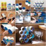 Para los amantes del vino…Pequeña bodega con latas recicladas