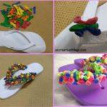 Para este verano…Ojotas coloridas con globos