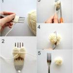 ¡La técnica del tenedor para crear Pompones de lana!