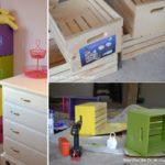 Biblioteca con cajones de colores para el cuarto de los peques