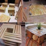 Mesa ratona para la sala con cajas de madera recicladas: ¿Cómo hacerla?