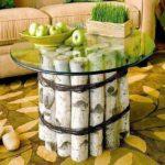 Mesa ratona con troncos de madera ¿Cómo hacerla?