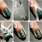 ¡Uñas navideñas! Paso a paso para diseño de uñas con árbol