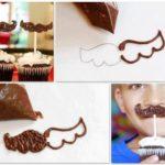 ¡Ideas con cupcakes! Divertidos bigotes de chocolate para los más pequeños