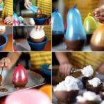 Estas fiestas..sorprende con el postre: Compoteras para helado realizadas con chocolate