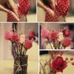 Rosas de tela para centros de mesa:¡ Especial para navidad!