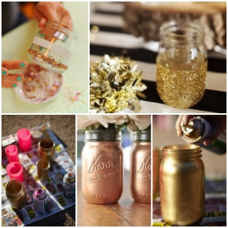 DIY-gold-mason-jars-_-glitterweddings.com_-465x465