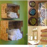 ¡Decoremos el baño! Canastos de distintas formas para organizar el baño