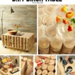 ¡Ideas para la decoración! Mesa ratona rustica con troncos y ruedas