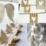 Móviles de distintas formas con material re-utilizable para decorar