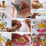 ¡Colorida alfombra de Flores tejidas al crochet con material reciclable!