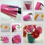 ¡Colores y Flores de material reciclable para decorar la mesa!