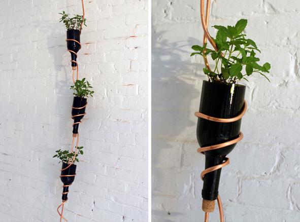 Macetas colgantes original forma de renovar el jard n for Ideas para jardin reciclado