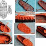 Pantuflas tejidas al crochet para regalar en Navidad: Paso a paso