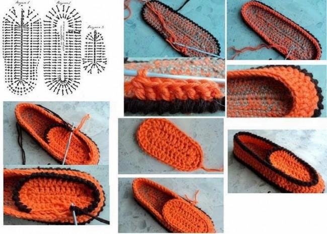 pantuflas de crochet tutorial2