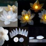 ¡Decoración, amor y noche! ¿Cómo hacer velas con forma de flor para decorar la mesa navideña?