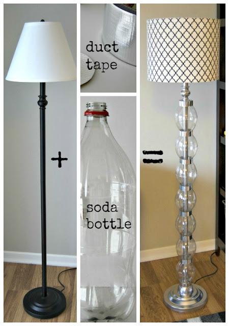 re decorando y re ciclando lampara de pie para la sala