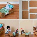 Pequeñas ideas: Cama de muñecas realizada con material reciclable