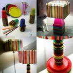 Lámparas coloridas con material reciclable ¿Cómo hacerlas?