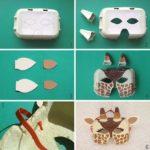 Jueguetes con materiales reciclados: Careta de jirafas para que disfruten los mas pequeños