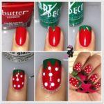 Divertido Nail art de frutillas para tus uñas: ¿Cómo hacer para pintar frutillas en las uñas?