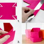 ¡Colores y accesorios! ¿Cómo hacer cajitas de fieltro?