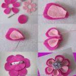 ¡Para las pequeñas! Paso a paso para hacer hebillas de fieltro con forma de flor