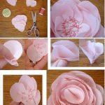Flores realizadas con tul y seda para alegrar tus prendas