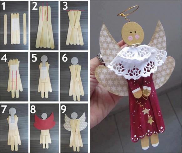 2.-DIY-Ángel-navideño-con-palitos-de-madera