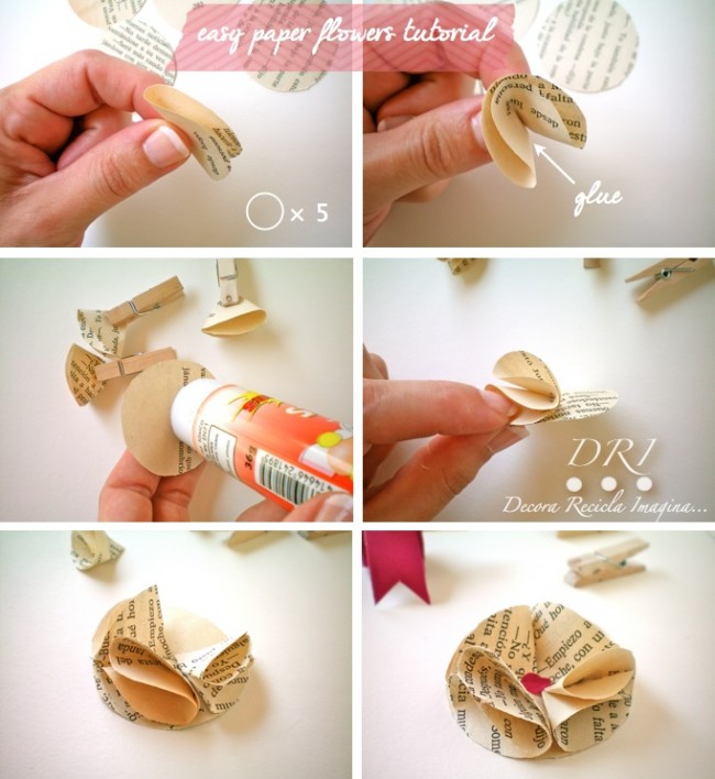 Easy-Paper-Flower-Tutorial