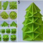 Para decorar la mesa…Paso a paso árbol navideño con la técnica origami