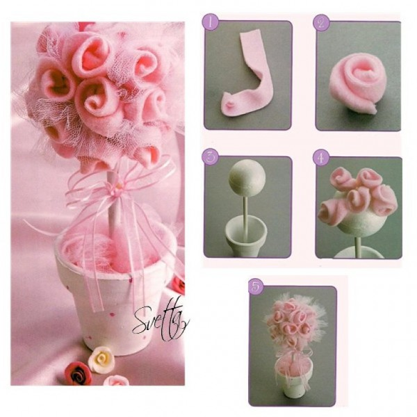 Rom ntico adorno de rosas para decorar mesas de eventos for Mesas de centro bonitas