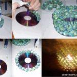 Centro de mesa realizado con cd y bolillas: ¿Cómo hacerlo?