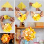 Divertida y alegre pantalla para el hogar realizada con la técnica origami ¿Cómo hacerla?