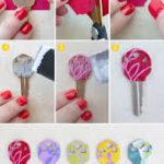 Ideas coloridas y divertidas para diferenciar las llaves de la casa